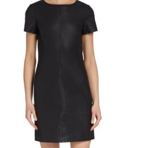 5/48 Black Faux Leather Dress